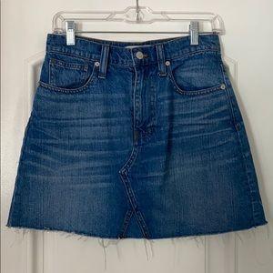 Frayed Jean Mini Skirt